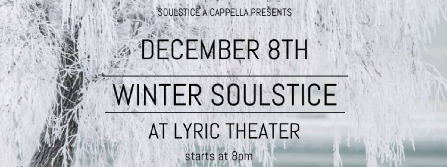 "VT Soulstice A Capella Presents: ""Winter Soulstice"""